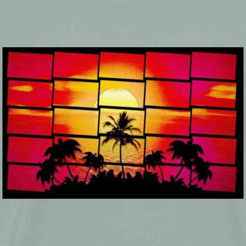 80's Beach - Men's Premium T-Shirt