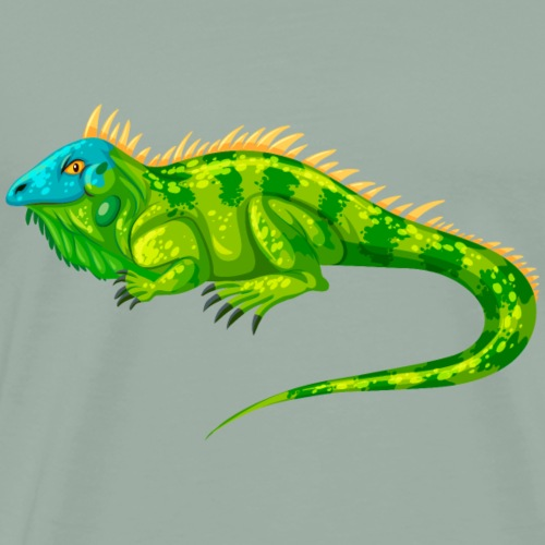 Animal iguana lizard wildlife awesome vector image - Men's Premium T-Shirt