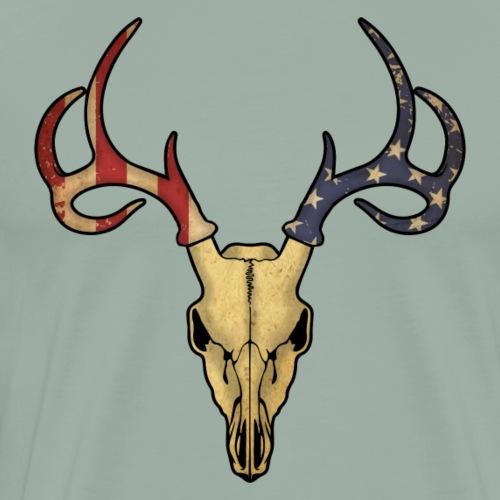 American Deer Skull - Men's Premium T-Shirt