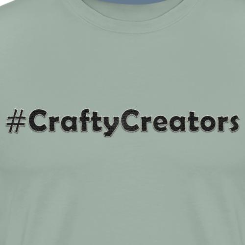 Crafty Creators White Stitched Black Linen Text - Men's Premium T-Shirt