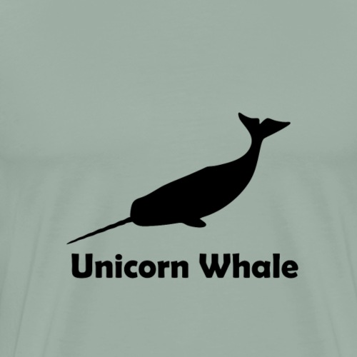 Unicorn Whale Narwhale 1 black gift - Men's Premium T-Shirt
