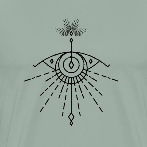 Ever Seing Eye by Qenjo - Men's Premium T-Shirt