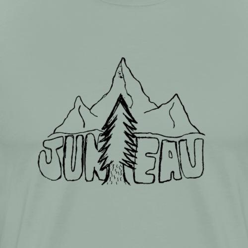Juneau Sketch Design (Black) - Men's Premium T-Shirt