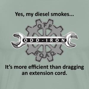 Yes my diesel smokes black letter 8 27 2017 - Men's Premium T-Shirt