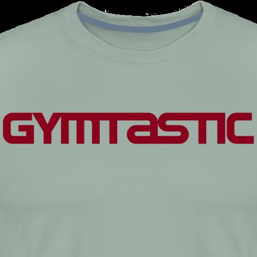 Gymtastic - red - horizontal - front - Men's Premium T-Shirt