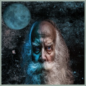 old man and the moon - Men's Premium T-Shirt