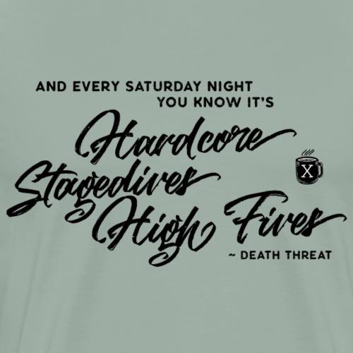 Death Threat – Stagedives High Fives - Men's Premium T-Shirt