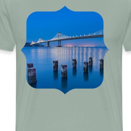 Bridge sea night - Men's Premium T-Shirt