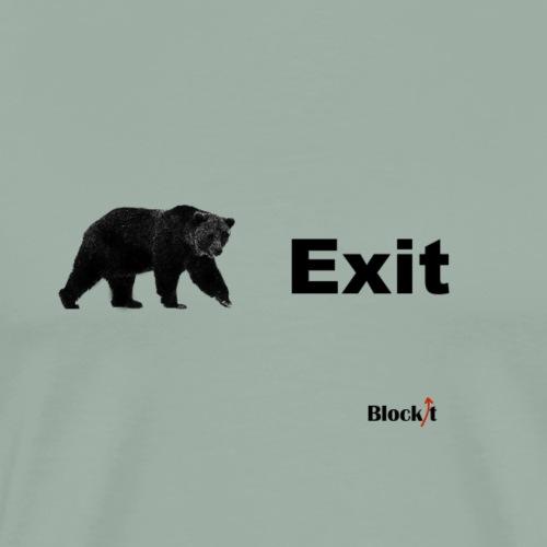 Exit pursued by a bear - Men's Premium T-Shirt