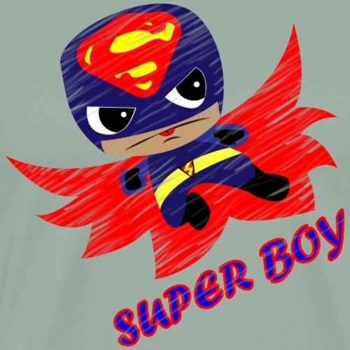 Super boy Halloween hero cute comic - Men's Premium T-Shirt