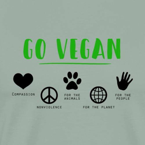 vegan go - Men's Premium T-Shirt