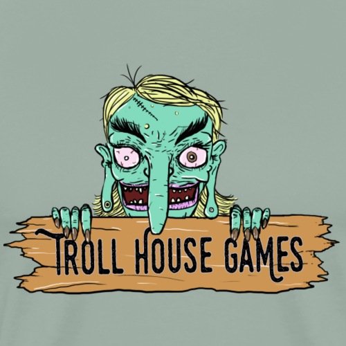 Troll House Games Cartoon Logo - Men's Premium T-Shirt