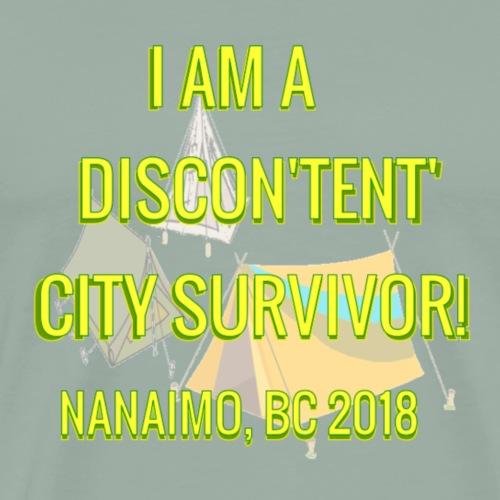 DISCON'TENT' CITY SURVIVOR - Men's Premium T-Shirt