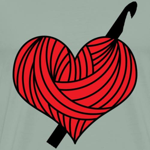 Heart Crochet - Men's Premium T-Shirt
