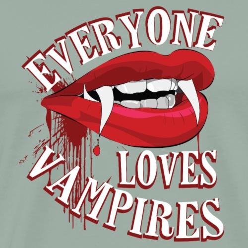 Everyone Loves Vampires Funny Halloween T-Shirt - Men's Premium T-Shirt