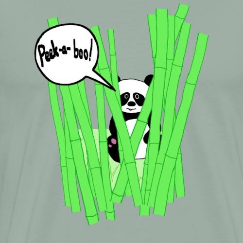 peek-a-boo panda - Men's Premium T-Shirt