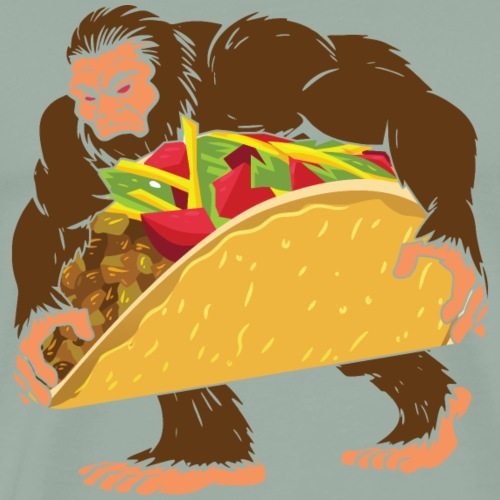 Bigfoot With A Taco Funny Cinco De Mayo T-Shirt - Men's Premium T-Shirt