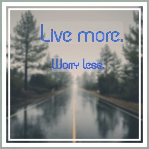 Live more, worry less - Men's Premium T-Shirt