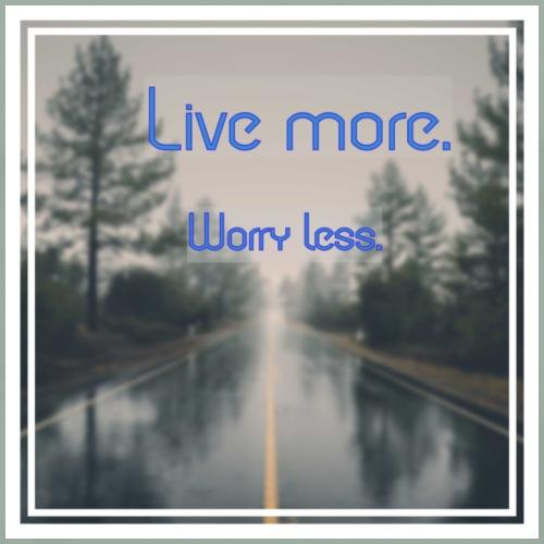 Live more, worry less - Men's Premium T-Shirt