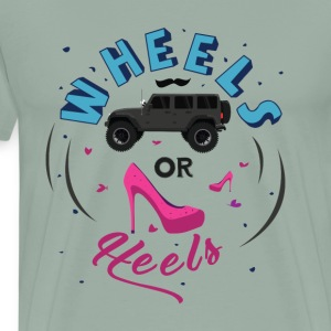 Wheels or Heels - Gender Reveal - Men's Premium T-Shirt
