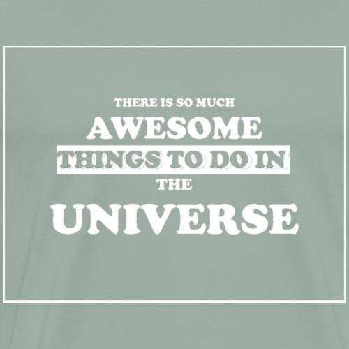 Text_AWESOME UNIVERSE - Men's Premium T-Shirt