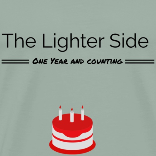The Lighter Side - One year - Men's Premium T-Shirt