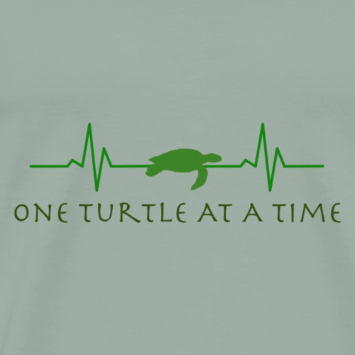 One Turtle At A Time - Men's Premium T-Shirt