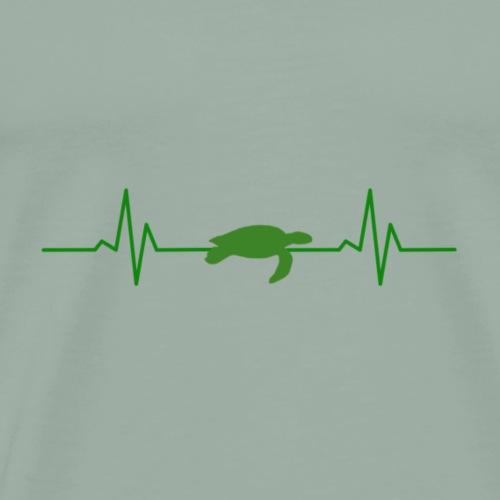 One Turtle Logo - Men's Premium T-Shirt