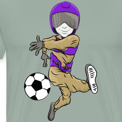 Aviators Mascot Soccer - Men's Premium T-Shirt