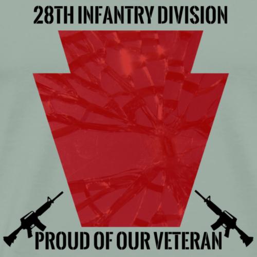 28th Proud of Veteran Black - Men's Premium T-Shirt