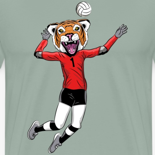 Tiger mascot volleyball - Men's Premium T-Shirt