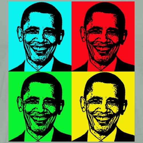 obama pop art - Men's Premium T-Shirt