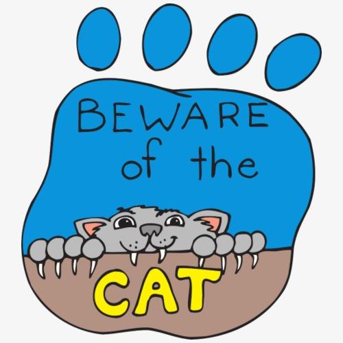 Beware of the Cat - Men's Premium T-Shirt