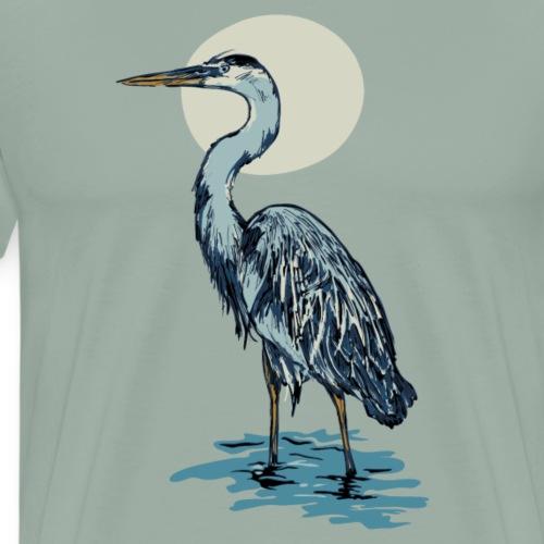 Heron Moon - Men's Premium T-Shirt