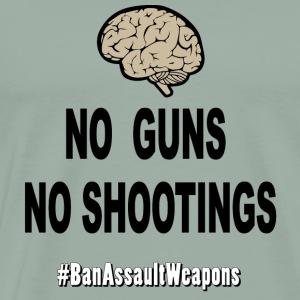 NoGunsNoShootings Brain Edition - Men's Premium T-Shirt