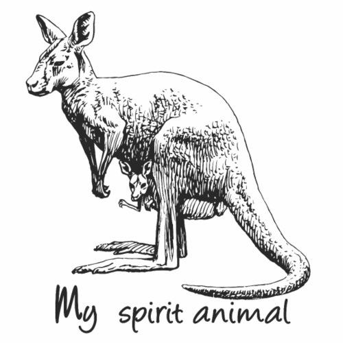 Kangaroo My spirit animal - Men's Premium T-Shirt