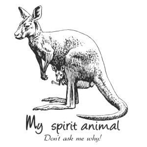 Kangaroo Spirit Animal - Men's Premium T-Shirt