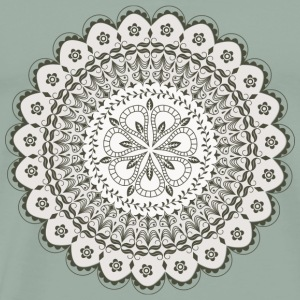 Black Mandala flower - Men's Premium T-Shirt