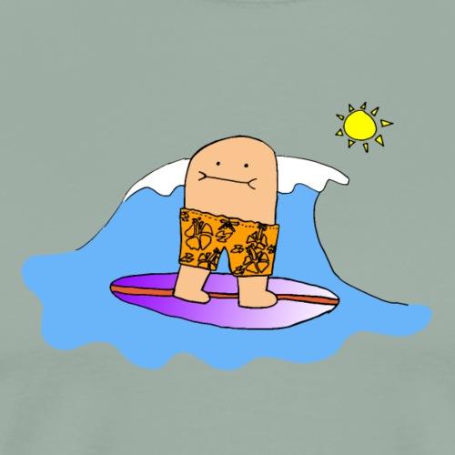 Surfing Bert Tshirt - Full Color - Men's Premium T-Shirt