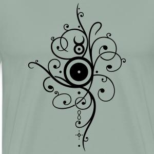Yule sun, winter solstice - Men's Premium T-Shirt