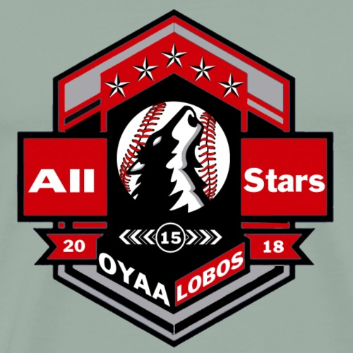 OYAA All Stars Lobos Military Like Logo - Men's Premium T-Shirt