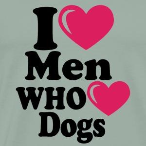 dgmBlk i heart men who heart dogs - Men's Premium T-Shirt