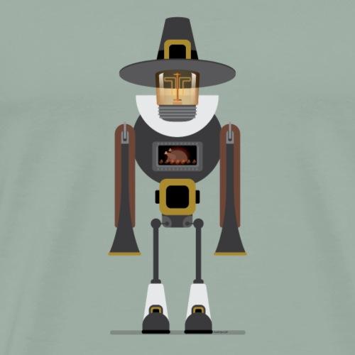 It's a robot, Pilgrim - Men's Premium T-Shirt