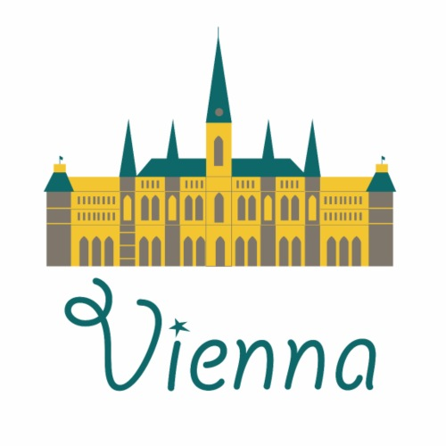 Cute Vienna Logo Gift Present Idea - Men's Premium T-Shirt