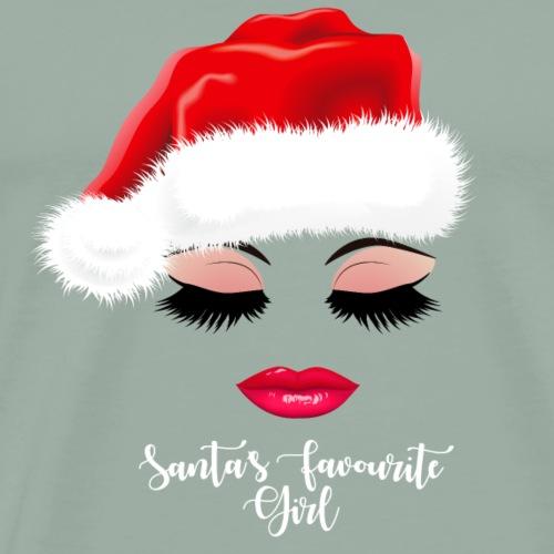 Santa's Favorite Girl. Christmas Gifts for Girls. - Men's Premium T-Shirt