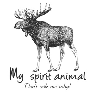 Moose Spirit Animal - Men's Premium T-Shirt