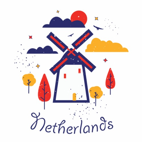 Cute Netherlands logo gift present idea - Men's Premium T-Shirt