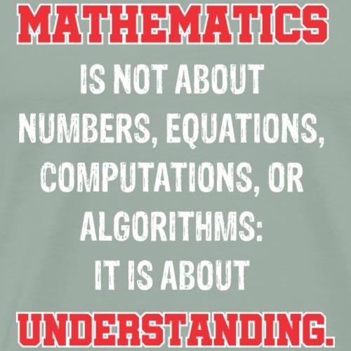 Math is about understanding - Men's Premium T-Shirt