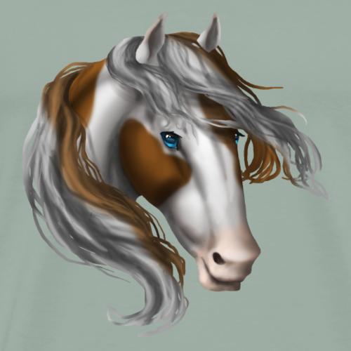 Paint Brown Blue Eye Horse - Men's Premium T-Shirt