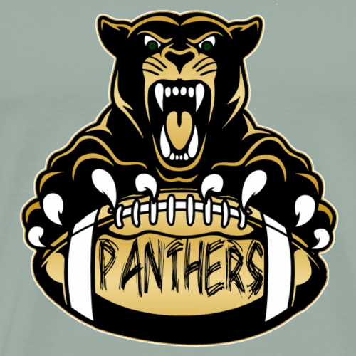 Panthers with Football - Men's Premium T-Shirt